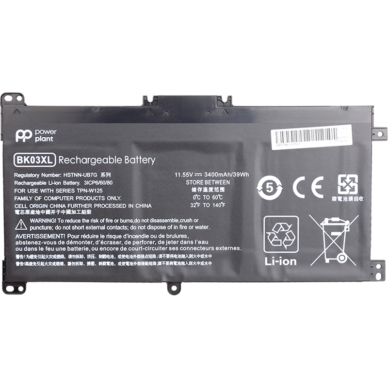 Купить Аккумулятор PowerPlant для ноутбуков HP Pavilion X360 14-BA (BK03XL, HSTNN-LB7S) 11.55V 3400mAh
