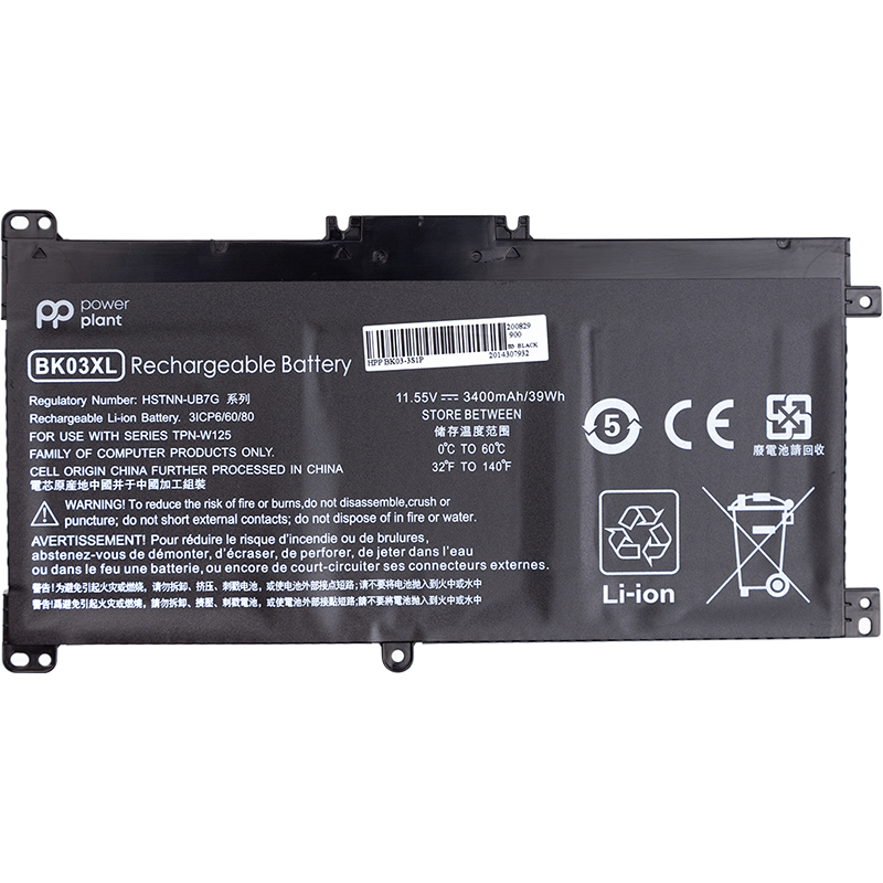 Купить Аккумулятор PowerPlant для ноутбуков HP BK03-3S1P 11.55V 3400mAh
