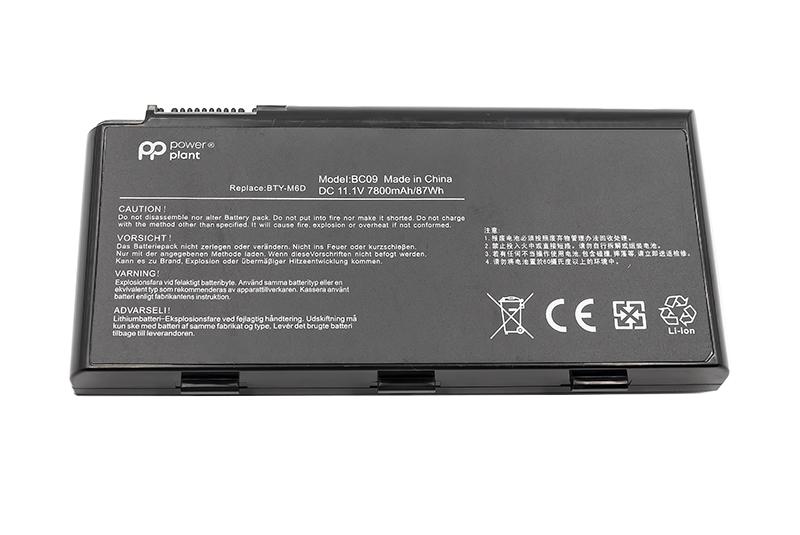 Купить Аккумулятор PowerPlant для ноутбуков MSI GX660 Series (BTY-M6D, MIX780LP) 11.1V 7800mAh