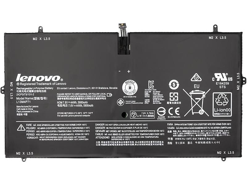 Купить Аккумулятор для ноутбуков LENOVO Yoga 3 Pro (L13M4P71) 7.6V 44Wh (original)