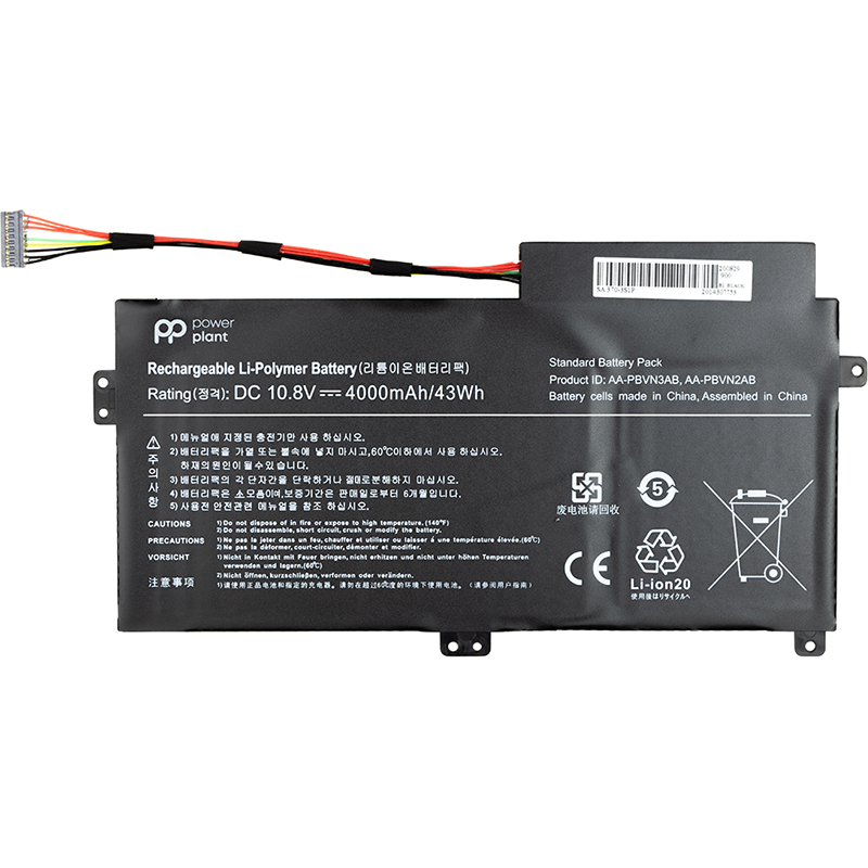 Купить Аккумулятор PowerPlant для ноутбуков SAMSUNG 370R (AA-PBVN3AB) 10.8V 4000mAh