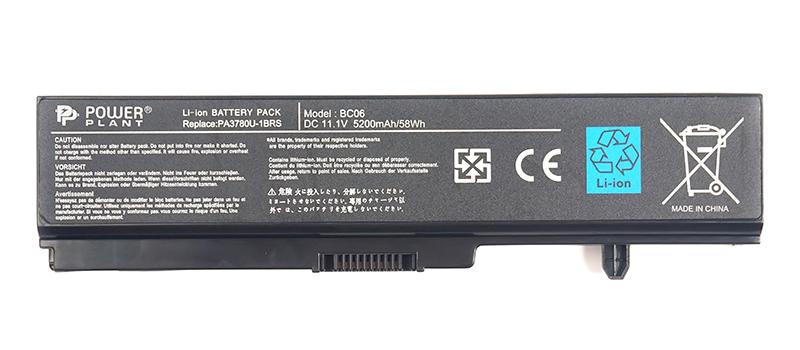 Купить Аккумулятор PowerPlant для ноутбуков TOSHIBA Satellite T130 (PA3780U-1BRS, TA3780LH) 11.1V 5200mAh