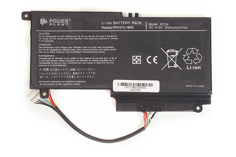 Купить Аккумулятор PowerPlant для ноутбуков TOSHIBA Satellite L55 (PA5107U-1BRS, TA5107P9) 14.4V 3000mAh