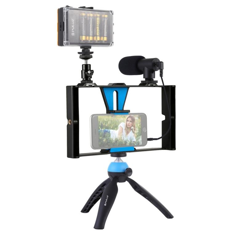 Купить Комплект блогера Puluz PKT3023 4в1 (свет, крепление, держатель для телефона, микрофон)