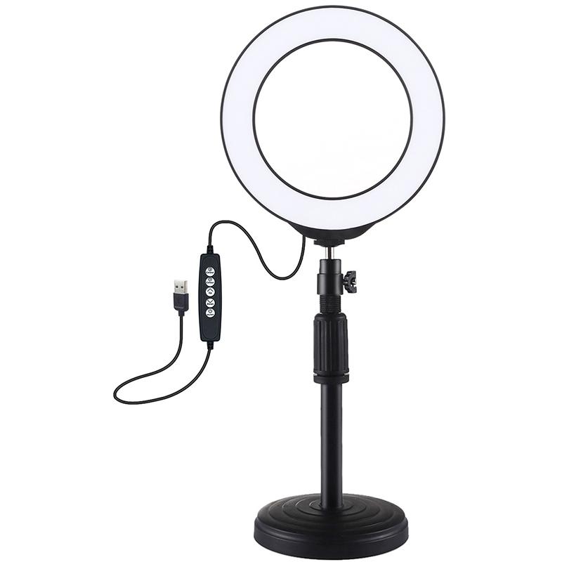 Купить Кольцевая USB RGBW LED лампа Puluz PKT3047B 6.2