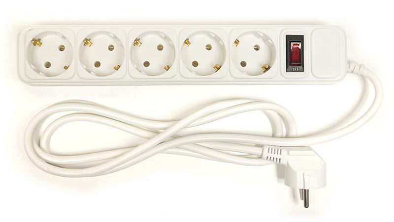 Купить Сетевой фильтр PowerPlant 1.8 м, 3x1.5мм2, 10А, 5 розетoк, евростандарт (JY-1056/1.8)