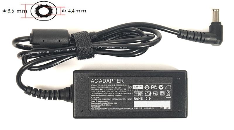 Купить Блок питания для ноутбуков PowerPlant SAMSUNG 220V, 16V 45W 2.8A (6.5*4.4)