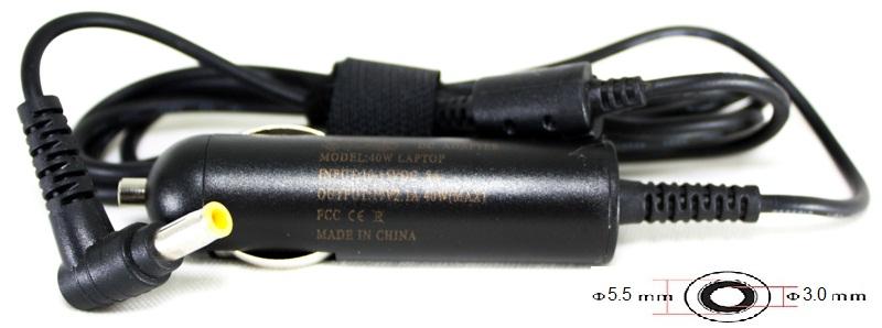 Купить Блок питания для ноутбуков PowerPlant SAMSUNG 12V, 19V 40W 2.1A (5.5*3.0) - автомобильный