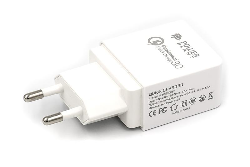Купить Зарядное устройство PowerPlant Qualcomm Quick Charge 3.0