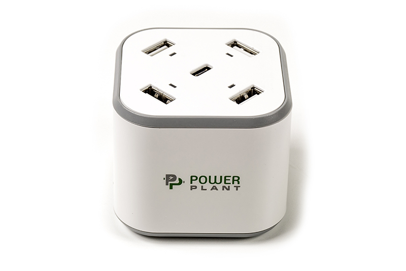 Купить Зарядное устройство PowerPlant 4xUSB + Type-C 5V 8.4A