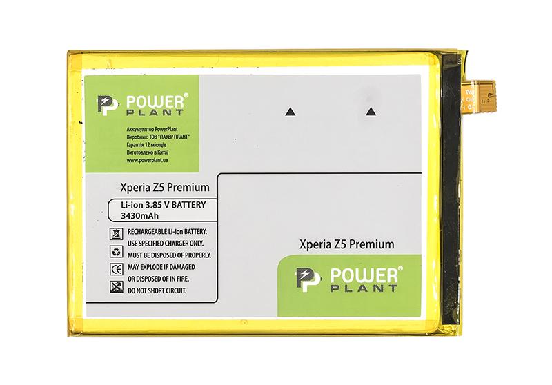 Купить Аккумулятор PowerPlant Sony Xperia Z5 Premium (LIS1605ERPC) 3430mAh