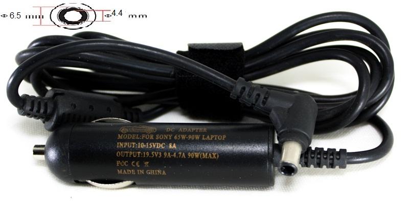 Купить Блок питания для ноутбуков PowerPlant SONY 12V, 19.5V 92W 4.74A (6.5*4.4) - автомобильный