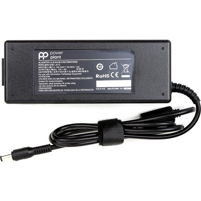 Купить Блок питания для ноутбуков PowerPlant TOSHIBA 220V, 15V 120W 8A (6.3*3.0)