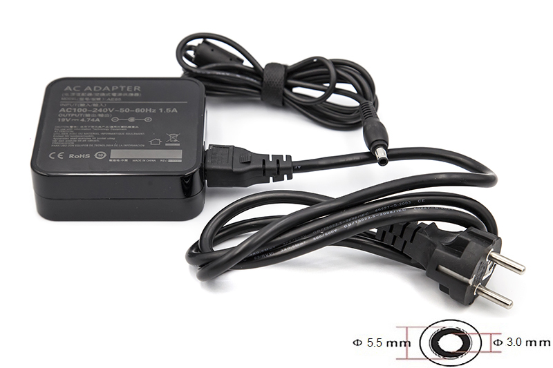 Купить Блок питания для ноутбуков PowerPlant SAMSUNG 220V, 19V 90W 4.74A (5.5*3.0) wall mount